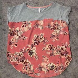 Mixed media blouse